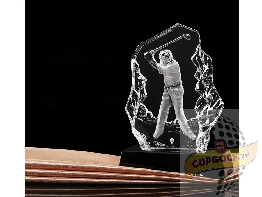Kỷ niệm chương golf pha lê 10
