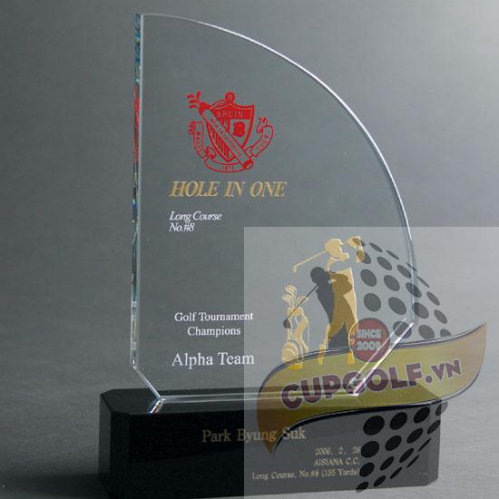 Kỷ niệm chương golf pha lê 32