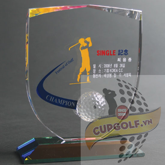 Kỷ niệm chương golf pha lê 31